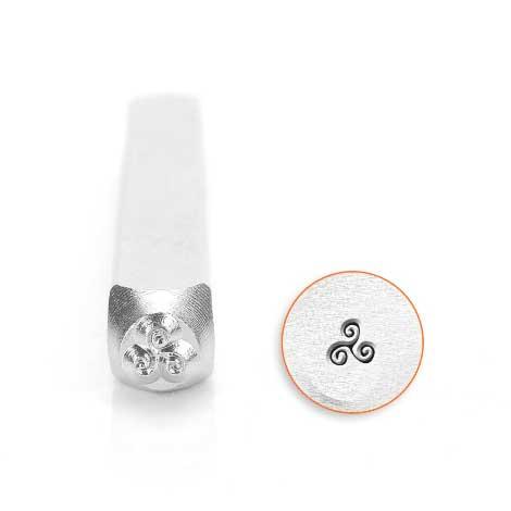 ImpressArt Tri-Swirl 3mm Metal Stamping Design Punches