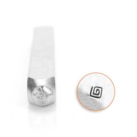 ImpressArt, Square Swirl 3mm Metal Stamping Design Punches
