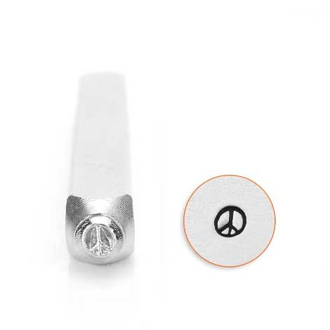 ImpressArt, Peace Sign 3mm Metal Stamping Design Punches