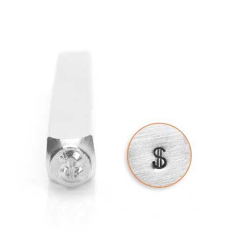 *PRE-ORDER, Special Order* Dollar Sign 3mm Metal Stamping Design Punches - ImpressArt