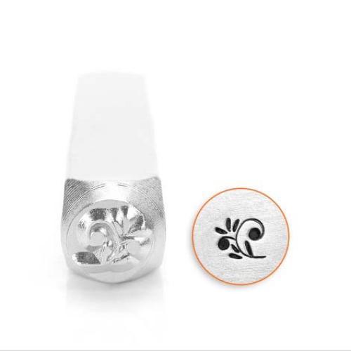 ImpressArt Floral Swirl 6mm Metal Stamping Design Punches