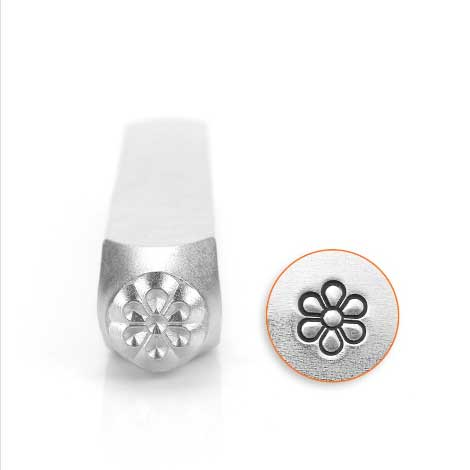 Flower Burst 6mm Metal Stamping Design Punches - ImpressArt