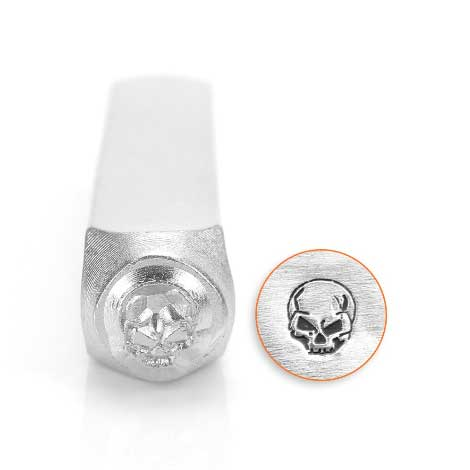 ImpressArt Angry Skull 6mm Metal Stamping Design Punches