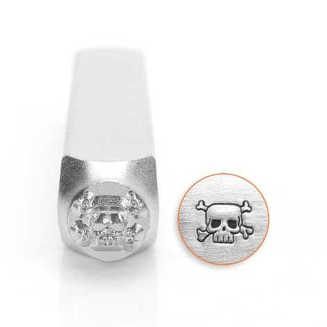 ImpressArt Skull & Crossbones 6mm Metal Stamping Design Punches