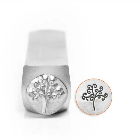 ImpressArt, Tree of Life Small 6mm Metal Stamping Design Punches