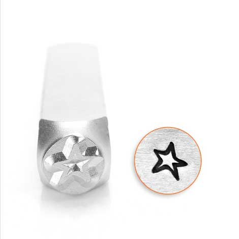 ImpressArt Angled Star Outline 6mm Metal Stamping Design Punches