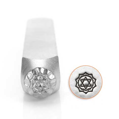 Heart Chakra 6mm Metal Stamping Design Punches - ImpressArt