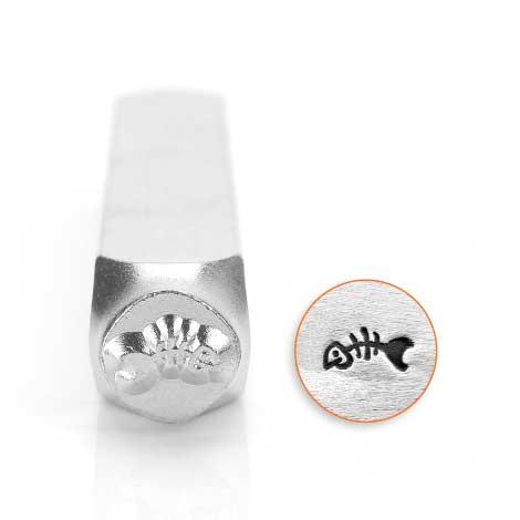 ImpressArt, Fish Skeleton 6mm Metal Stamping Design Punches