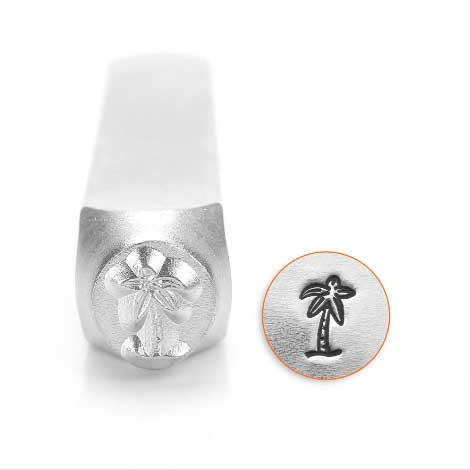 ImpressArt, Palm Tree 6mm Metal Stamping Design Punches