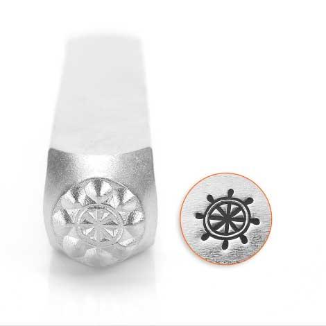 ImpressArt, Ship Wheel 6mm Metal Stamping Design Punches