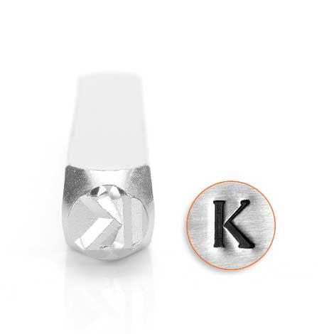 *PRE-ORDER, Special Order* Kappa Greek Letter 6mm Metal Stamping Design Punches - ImpressArt