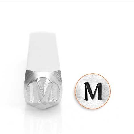 ImpressArt, Mu Greek Letter 6mm Metal Stamping Design Punches