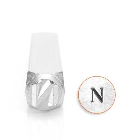 *PRE-ORDER, Special Order* Nu Greek Letter 6mm Metal Stamping Design Punches - ImpressArt