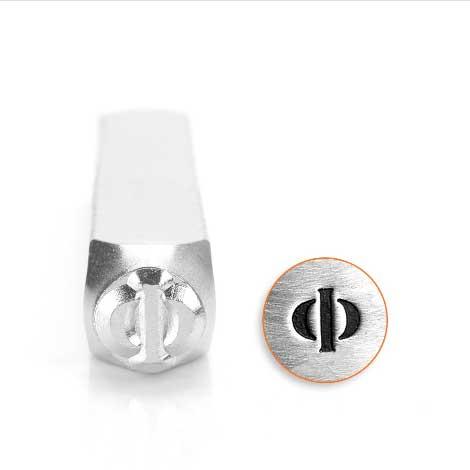*PRE-ORDER, Special Order* Phi Greek Letter 6mm Metal Stamping Design Punches - ImpressArt
