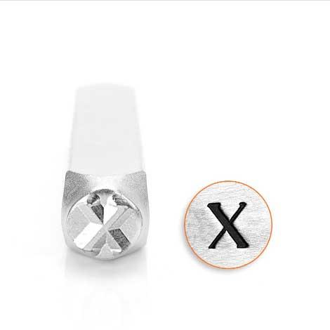 *PRE-ORDER, Special Order* Chi Greek Letter 6mm Metal Stamping Design Punches - ImpressArt