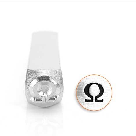 ImpressArt, Omega Greek Letter 6mm Metal Stamping Design Punches