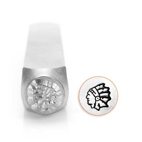 ImpressArt, Indian Head 6mm Metal Stamping Design Punches