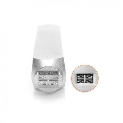 ImpressArt The Union Jack British Flag Design 6mm Metal Stamping Design Punches