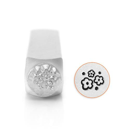 ImpressArt Multi Flower Texture 6mm Metal Stamping Design Punches