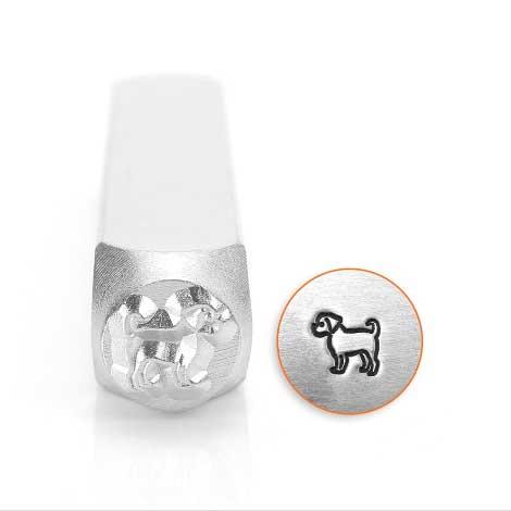 ImpressArt, Puggle Dog 6mm 6mm Metal Stamping Design Punches