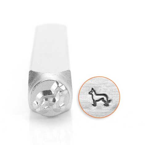 ImpressArt, German Shepherd 6mm 6mm Metal Stamping Design Punches