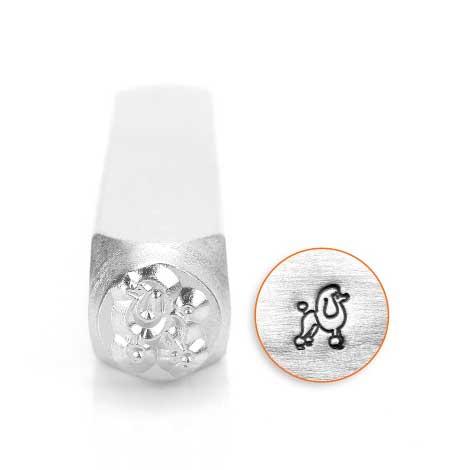 ImpressArt, Poodle 6mm Metal Stamping Design Punches