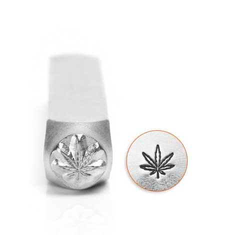 Hemp Leaf 6mm Metal Stamping Design Punches - ImpressArt