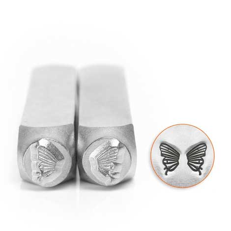 Butterfly Pair of Wings 6mm Metal Stamping Design Punches - ImpressArt