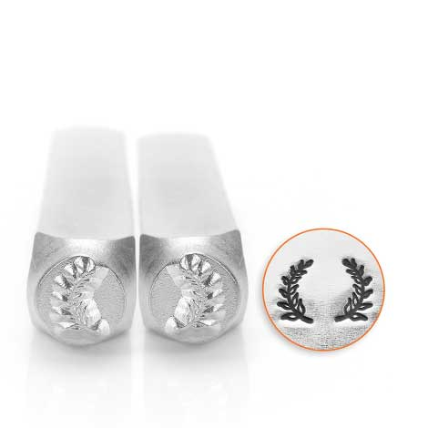 ImpressArt, Wreath Pair of Ends 6mm Metal Stamping Design Punches