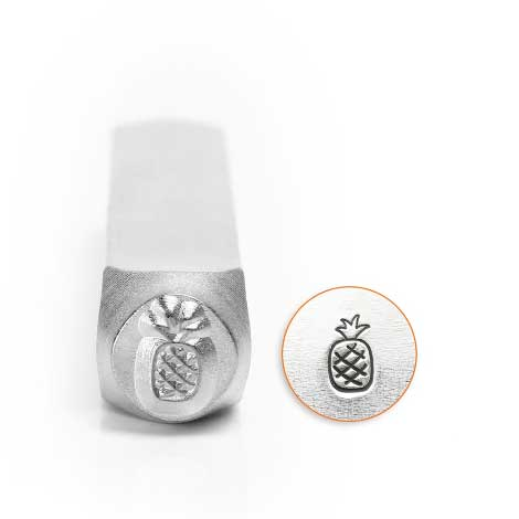 ImpressArt, Pineapple 6mm Metal Stamping Design Punches