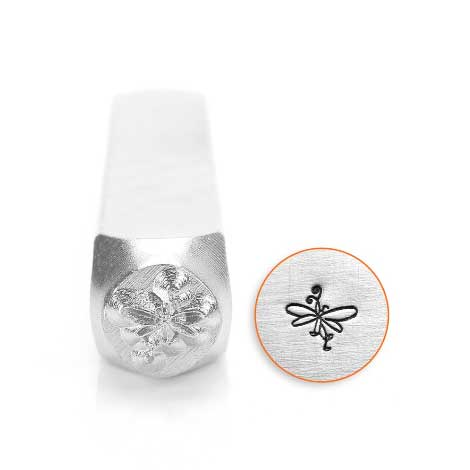 Possibly discontinued or will be a while out of stock - Butterfly Swirl 6mm Metal Stamping Design Punches - ImpressArt