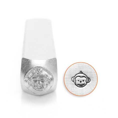 ImpressArt, Monkey Face 6mm Metal Stamping Design Punches