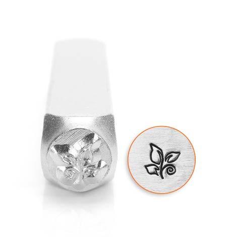 ImpressArt, Leaf Swirl 6mm Metal Stamping Design Punches