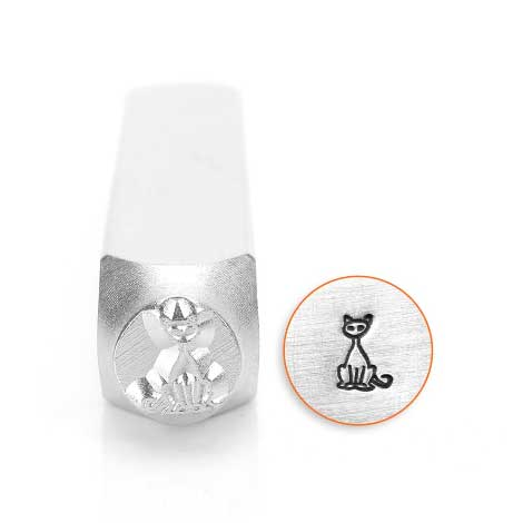 ImpressArt, Sitting Cat 6mm Metal Stamping Design Punches