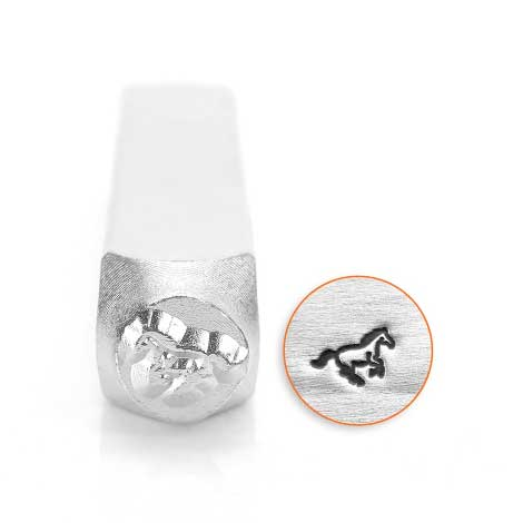 Galloping Horse 6mm Metal Stamping Design Punches - ImpressArt