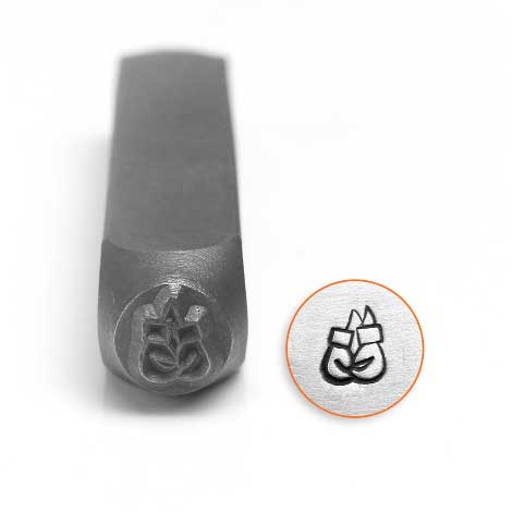 ImpressArt, Boxing Gloves 6mm Metal Stamping Design Punches