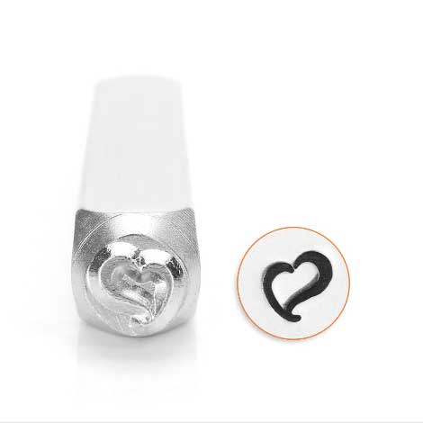 ImpressArt, Swirly Heart 6mm Metal Stamping Design Punches