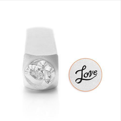 ImpressArt Love Script 6mm Metal Stamping Design Punches