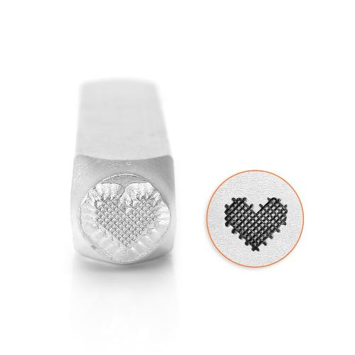 ImpressArt, Patchwork Heart 6mm Metal Stamping Design Punches