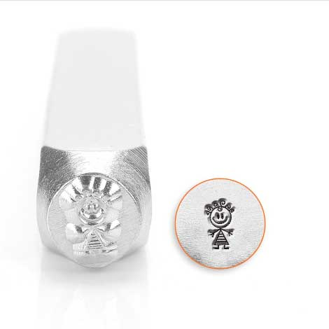 ImpressArt Stick Family Girl Abby 6mm Metal Stamping Design Punches