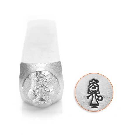 ImpressArt Bride Stick Woman 7mm Metal Stamping Design Punches