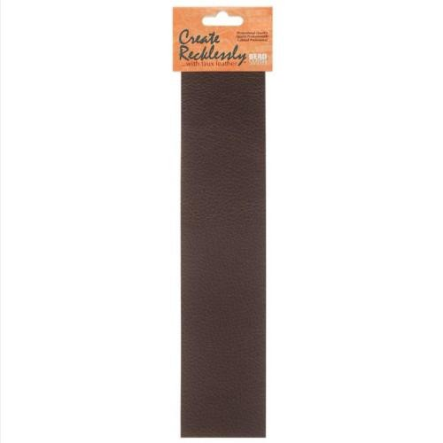 Create Recklessly, Symphony Faux Leather, 10 x 2 Inch Strip, x1pc, Fudge Brown