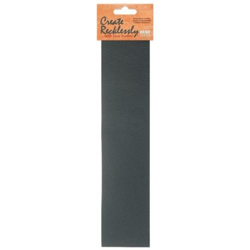 Create Recklessly, Symphony Faux Leather, 10 x 2 Inch Strip, x1pc, Pewter Grey