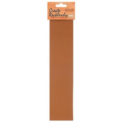 Create Recklessly, Symphony Faux Leather, 10 x 2 Inch Strip, x1pc, Saffron Tan