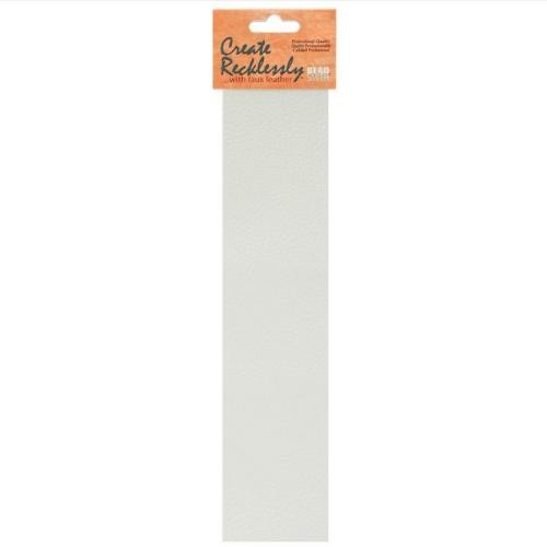 Create Recklessly, Symphony Faux Leather, 10 x 2 Inch Strip, x1pc, Marshmallow White