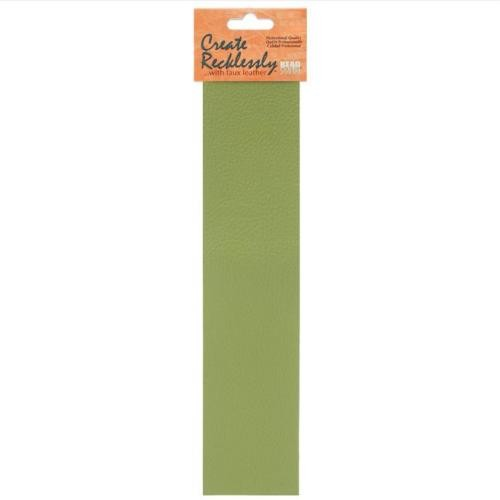 Create Recklessly, Symphony Faux Leather, 10 x 2 Inch Strip, x1pc, Scallion Olive Green