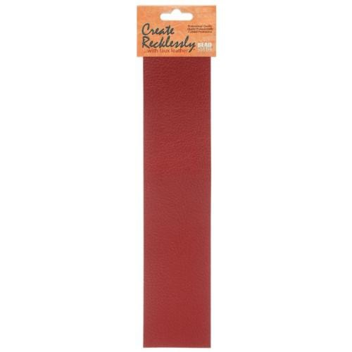 Create Recklessly, Symphony Faux Leather, 10 x 2 Inch Strip, x1pc, Tandoor Red