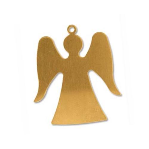 """Brass Angel 1 1/4"""" 32.2x28.3mm 24g Stamping Blank x1"""