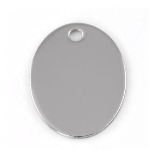 Stainless Steel Oval 30x22mm 19g Stamping Blank x1
