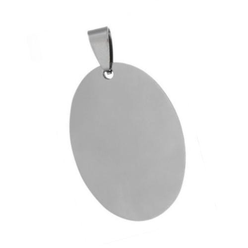 Stainless Steel Oval Pendant 42x25mm 17g Stamping Blank x1